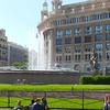 Fountain at Placa Catalunya