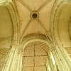 High ceilings of worship center of Mont Sant Michel
