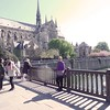 Vadis on bridge to Notre Dame Cathedral