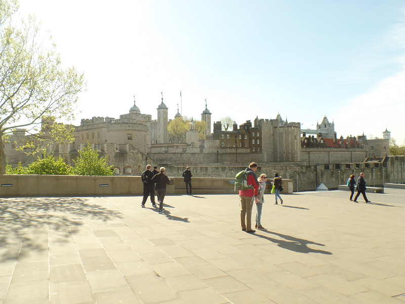 Tower of London - plaza above ticket booth