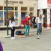 Entertainer - pan handler - on Grafton Street