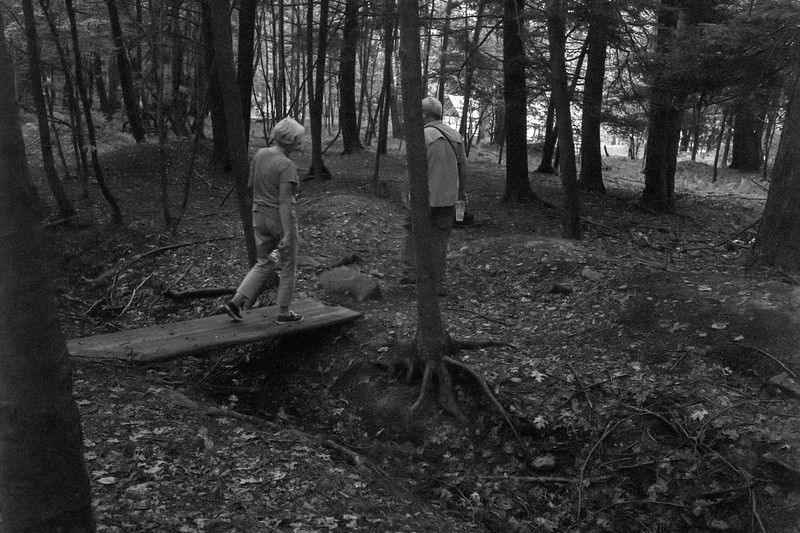 So dark I had to go B&W to save this shot from the woods.