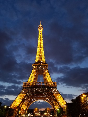 """The tower with """"glittering lights"""" - so pretty!"""