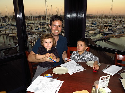 Dinner with the guys at the Boathouse Restaurant, San Diego