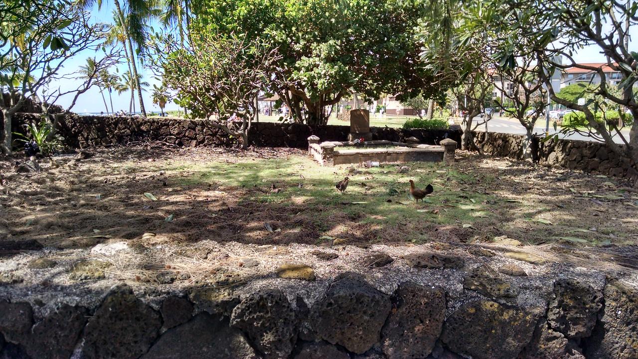 Poipu Beach Park cemetery