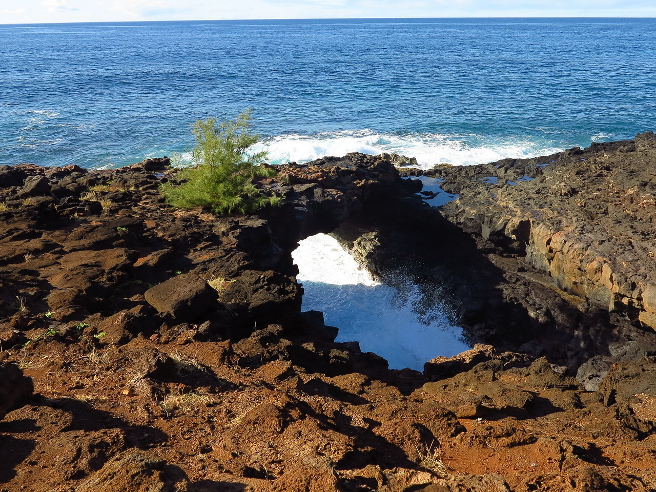 Makahu'ena Point sea arch