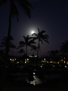 Point at Poipu moonrise