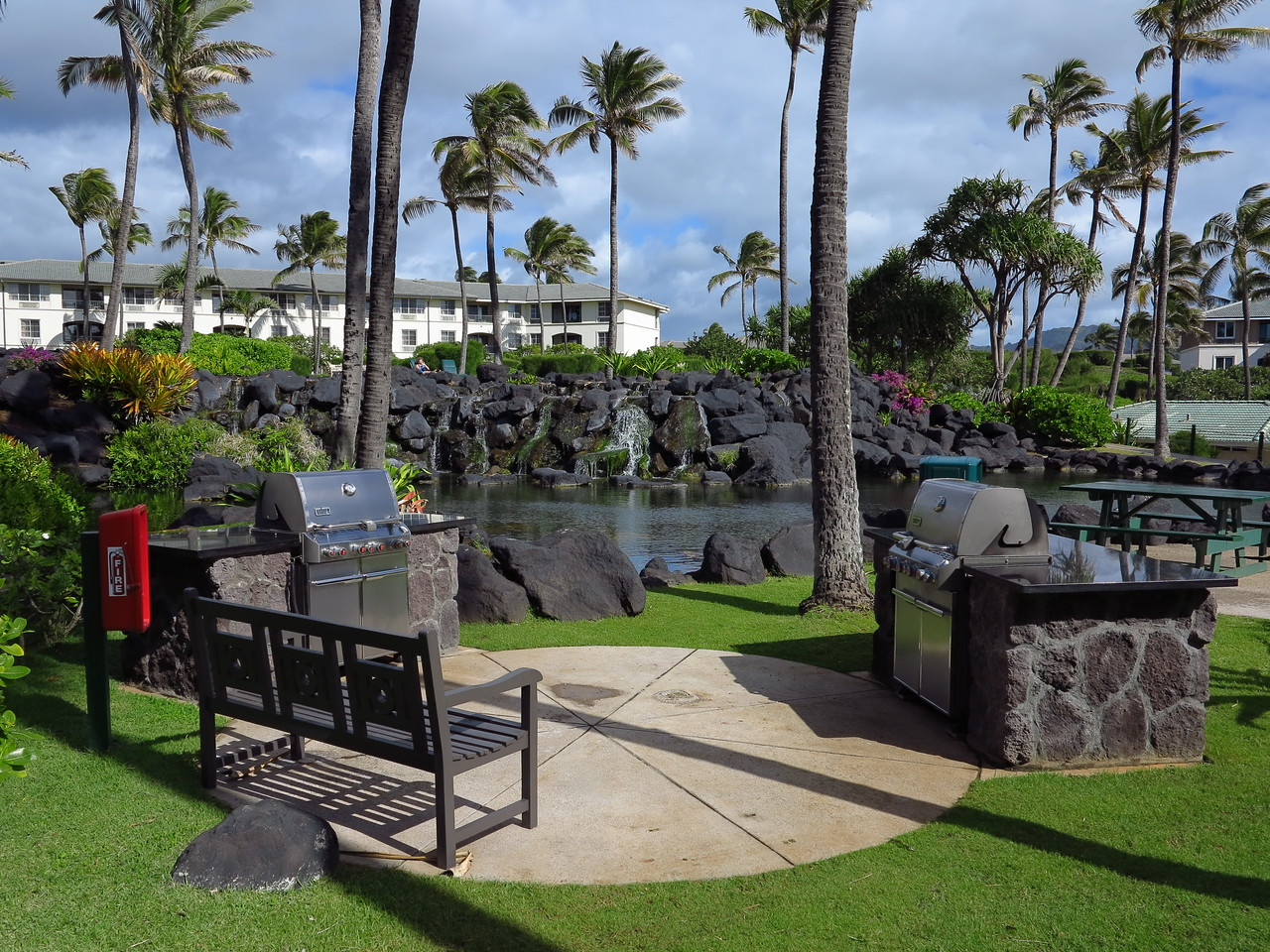 Point at Poipu grills
