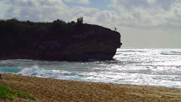 cliff at Shipwreck Beach