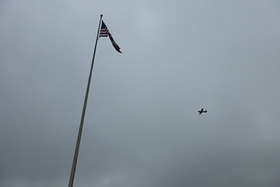 The flyover during the National Anthem.