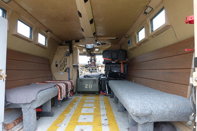 Inside of the SWAT vehicle