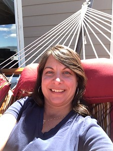 Diane on the hammock