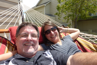 Us in the hammock.