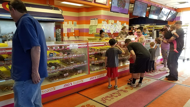 A trip to Amy's Donuts! Wow...so many to choose from.
