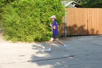 Aunt Shirley heading toward the finish line.