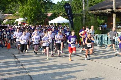The start of the 5K run.