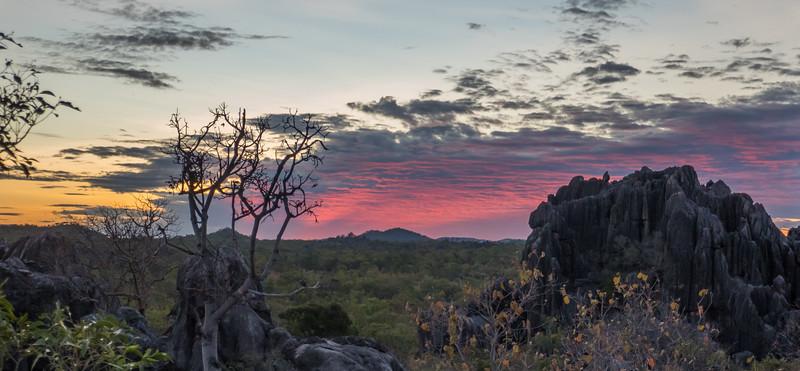 Sunset seen from Dancing Rock.