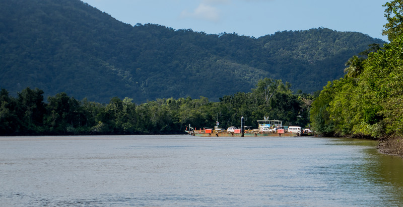The Daintree Ferry.