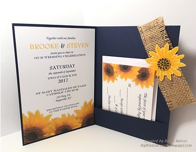 Diane created these wedding invitations.