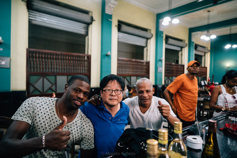 Aquiles and Petro at La Lluvia de Oro - Havana, Cuba, November 2017