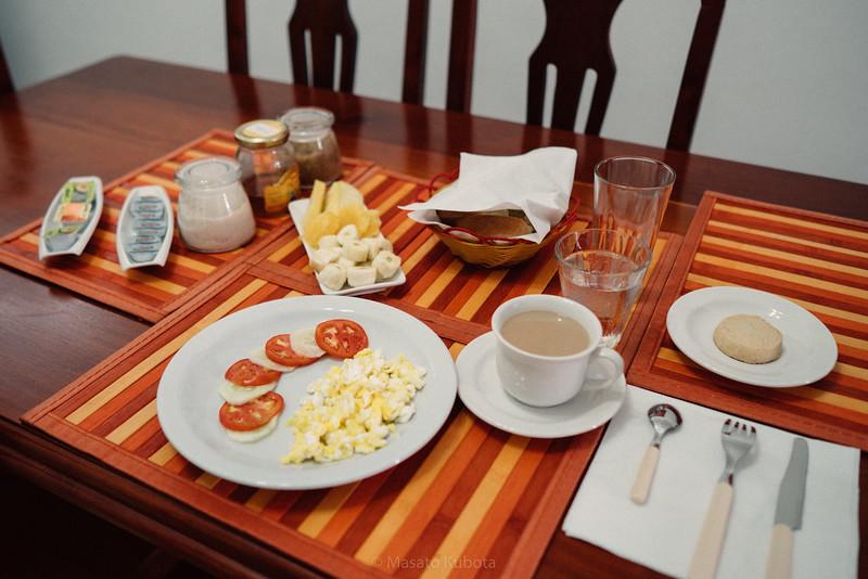 Breakfast prepared by Wilder - Havana, Cuba, November 2017