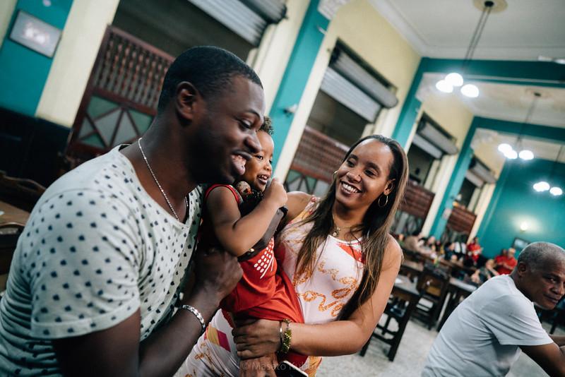 Aquiles and his family - La Lluvia de Oro, Havana, Cuba, November 2017