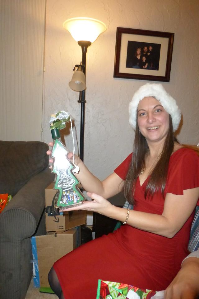 Diane got a Wisemen lightup bottle.