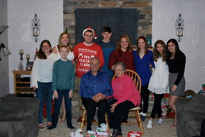The Grandkids w/Dad and Beverly - Ashley,Matt, Katie, Jake, Andrew, Tori, Samantha, Lauren and Ally