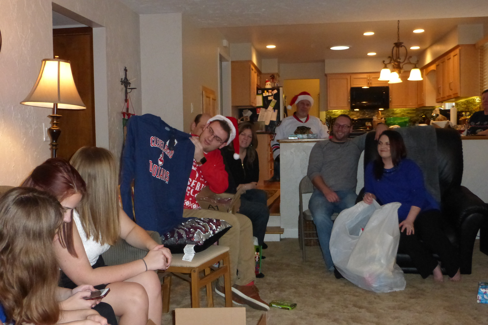 Jake opening up his gifts