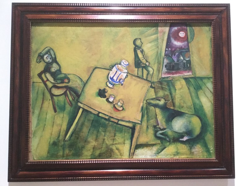 The Yellow Room, 1911<br /> I knew Chagall did odd things with gravity, but I hadn't previously noticed his upside-down heads.