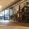 "Tinguely produced some huge sculptures, and I'm fairly sure I remember this one from the Tate. The switch is at the front, near the horse, and I spent most of the movement-time there before going exploring and finding a wonderful joke that I am unable to show you. The dark-brown rectangle to the right of the horse is a rusty panel, and it moves up and down to reveal and hide the world's cheesiest ""View of Venice"", done entirely in shades of gold. I was too busy laughing to be able to get my camera out, and when I stepped on the switch again, nothing happened and the panel remained down. The sculptures seem to have an enforced rest period to stop them wearing out; I'd experienced this elsewhere in the gallery when I wanted a second performance, but here it was particularly frustrating."
