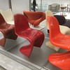These are also by Verner Panton, from 1956-67. Impressively economical, but surely too slippery to be useable?