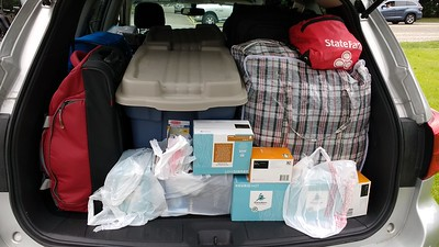 One of 2 SUV's packed full