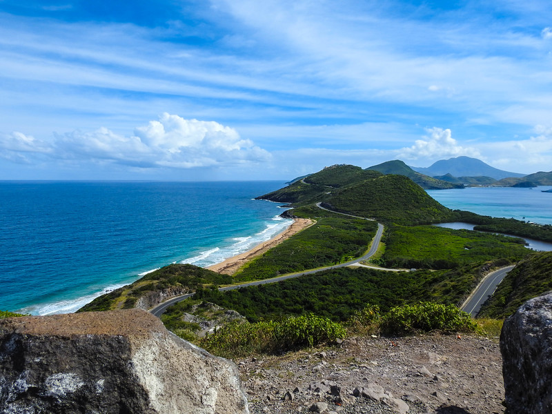 Southeast Peninsula (Saint Kitts). The island in the back is Nevis.