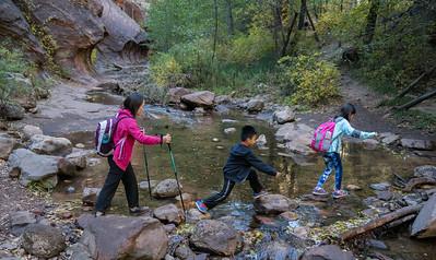 Stream crossing, West fork trail, Oak Creek Canyon