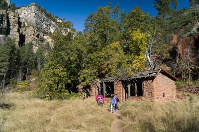 Old cabin, West fork trail, Oak Creek Canyon