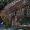 Huge rock, West fork trail, Oak Creek Canyon