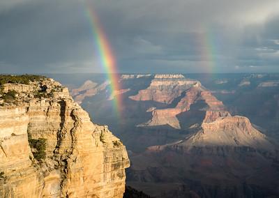 Double rainbow, Pipe Creek Vista