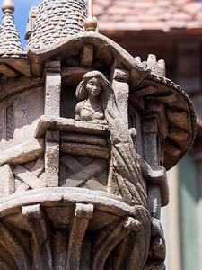 Mini Rapunzel tower statue.
