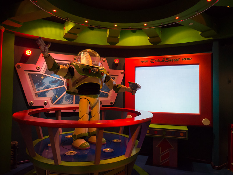 Buzz Lightyear Astro Blasters ride.