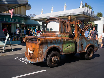 Mater in Cars Land.