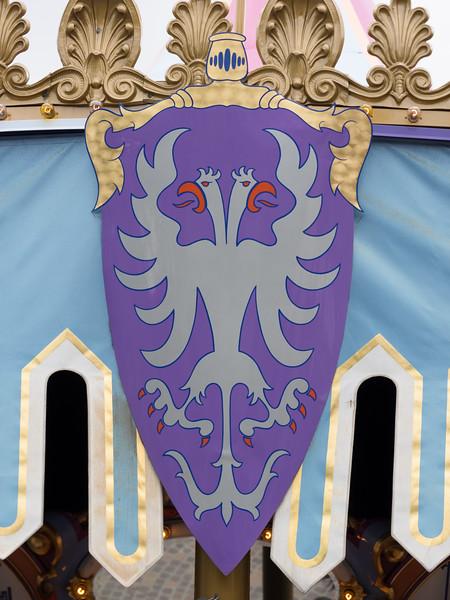 Shield on Cinderella carousel.