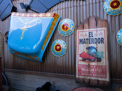 Mater props in Junkyard Jamboree ride.