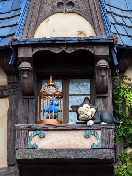 Outside Pinocchio ride.