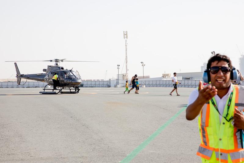 Dubai helicopter trip