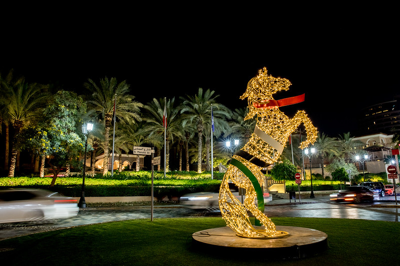 Dubai, The Walk, horse statue
