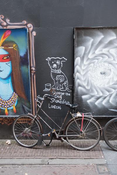 Dog and bike