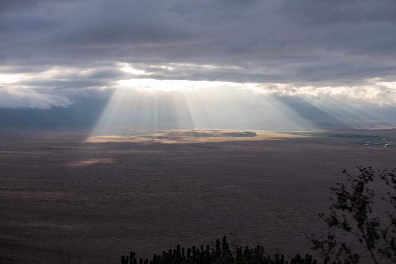 Descending into Ngorngoro Crater