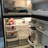 empty refrigerator.....ready for a 3 week trip.