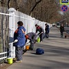 painting crew near Catherine's Palace....note that the painters are all women